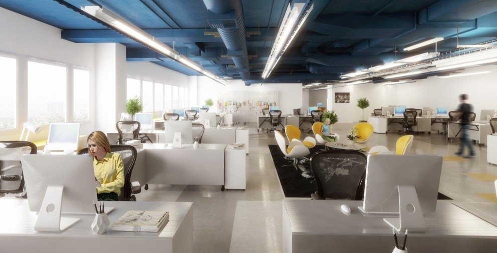 THE CONCEPT OF THE OPEN OFFICE INTERIOR DESIGN